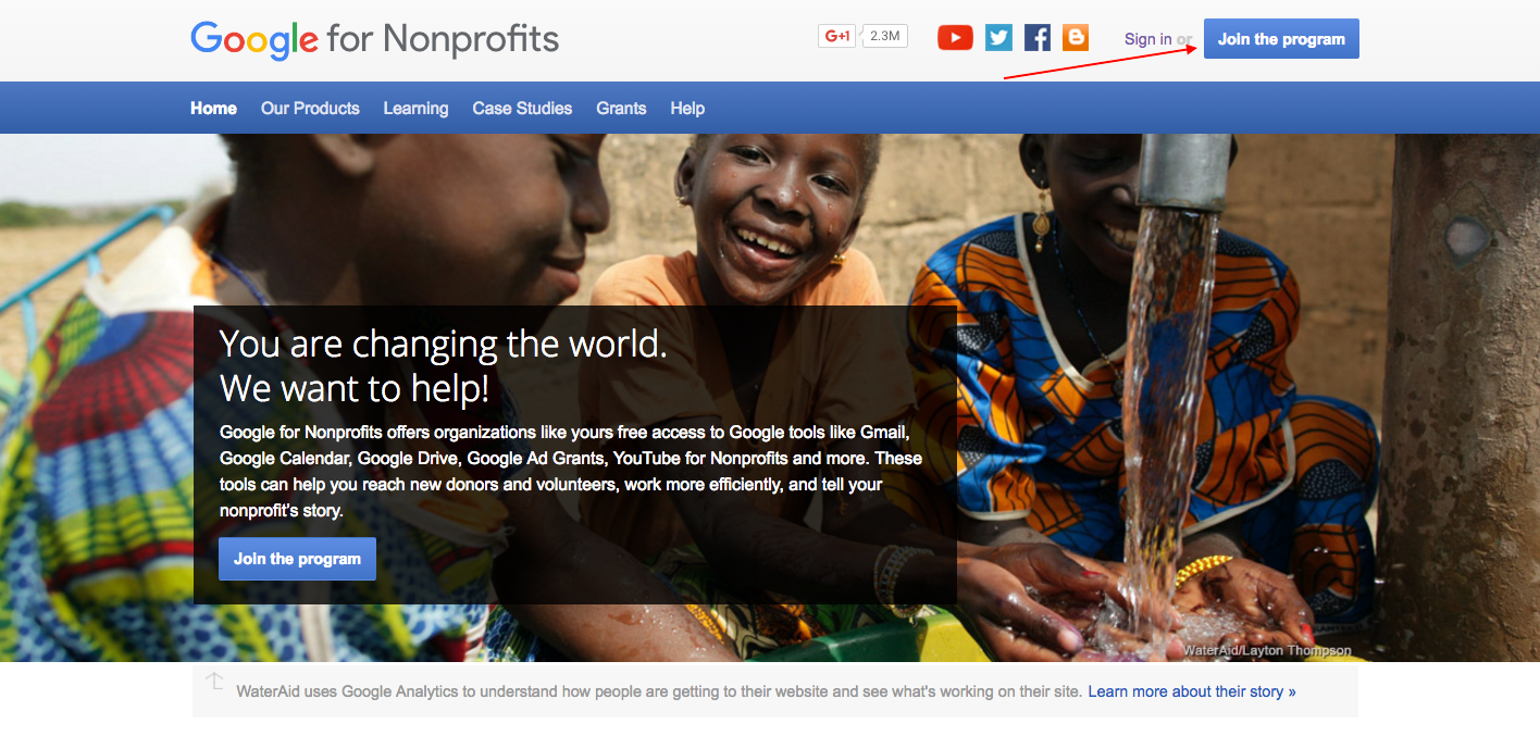 como gestionar google for non profits