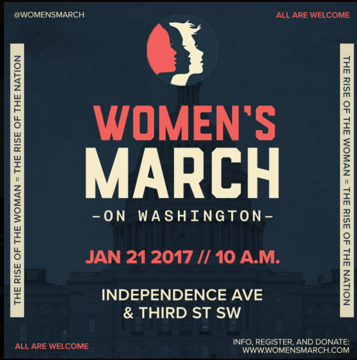 Cartel del a convocatoria para la marcha del 21 de enero convocada por Women´s march in Washington