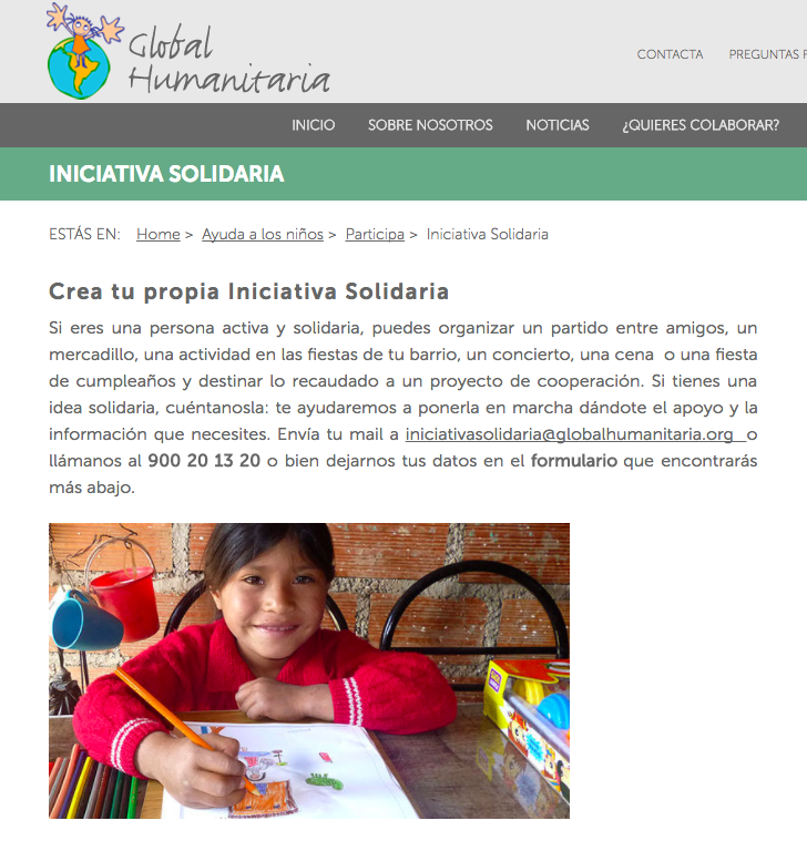 iniciativas solidarias global humanitaria
