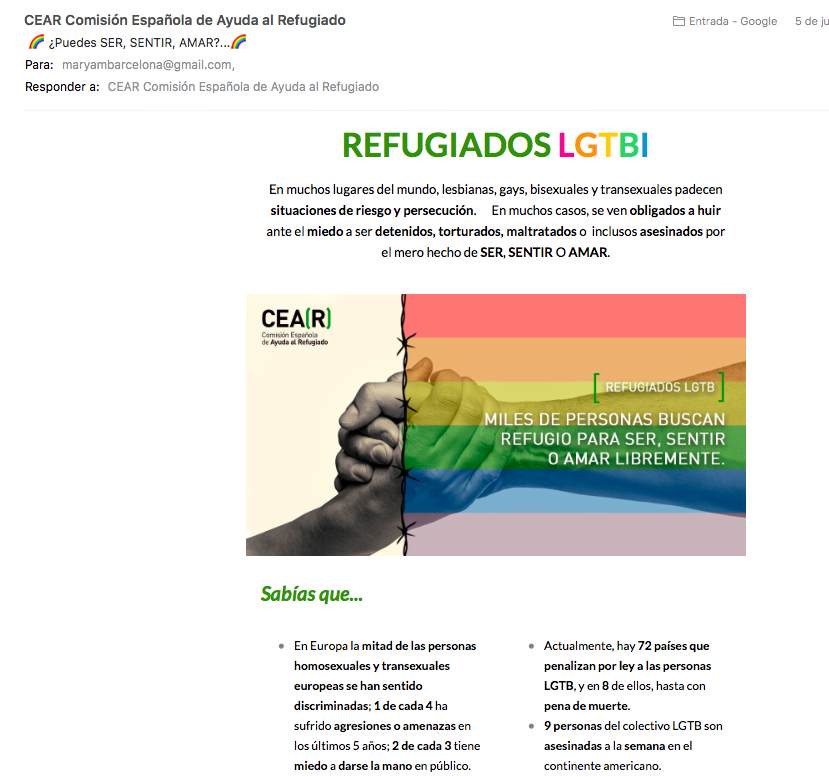 Mail marketing de CEAR